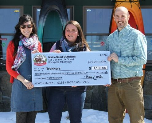 Trekkers Recipient of $1136 from Maine Sport Outfitters'April 5-7th Non-Profit Weekend